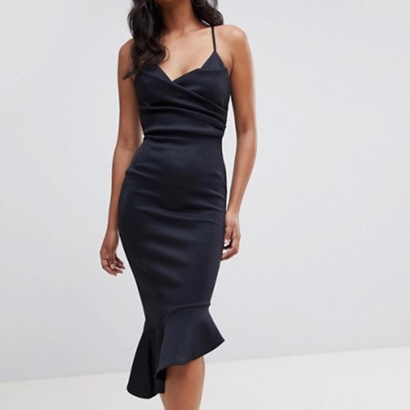 d63982d440714 ASOS Dresses | Nwt Scuba Cami Pephem Midi Dress Us 6 | Poshmark